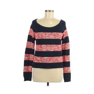 American Eagle Stripe chunky knit navy sweater